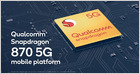 Qualcomm unveils Snapdragon 870 with a similar design to the 865 and 865 Plus, clocked at 3.2GHz, making it about 10% faster than the 865 (Chaim Gartenberg/The Verge)