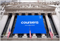 Coursera closes at $45 per share, up 36% from its IPO price of $33 per share, giving Coursera a market cap of ~$5.9B (Riley de León/CNBC)